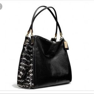 Coach black Python phoebe handbag
